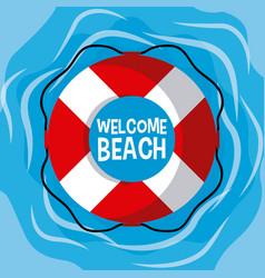 welcome beach cartoon vector image