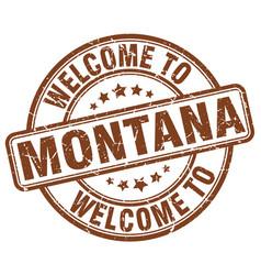 Welcome to montana vector