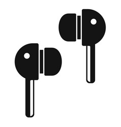 Wireless earbuds icon simple style vector