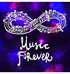 Music Sketch Background vector image vector image