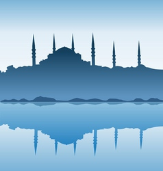 Silhouette of Istanbul vector image