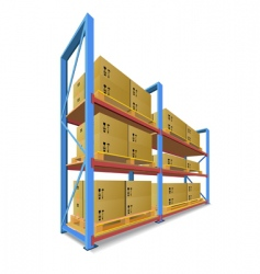 storage racks vector image vector image