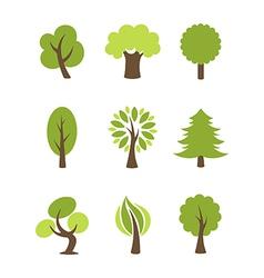 Tree icons set vector image