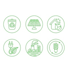 Ecology icons with White Background vector image