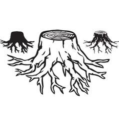 Tree stump design vector image vector image
