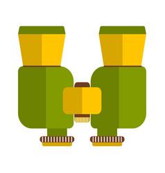 binoculars isolated on white background vector image vector image