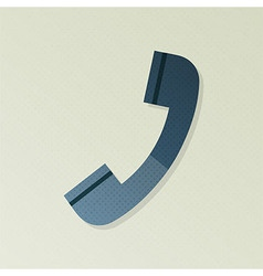 Phone support halftone stylized vector image vector image