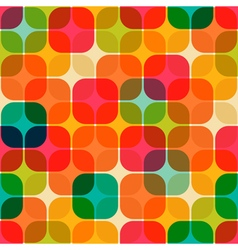 rounded square pattern vector image vector image