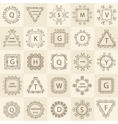Set ornament logos design company vector image vector image