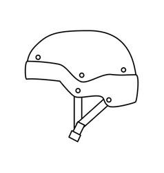snowboard sport equipment vector image