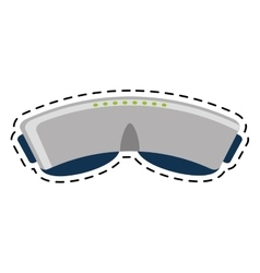 vr glasses device gadget line vector image vector image