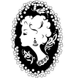 Woman camea vintage profile vector image