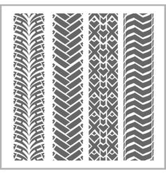 Car tire tracks - set vector image