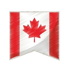 colored flag pennant canadian vector image