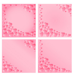 hearts design for valentines day vector image vector image
