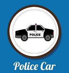 police car design vector image