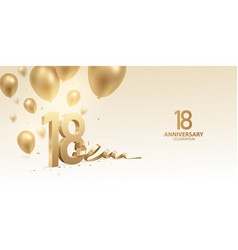 18th anniversary celebration background vector