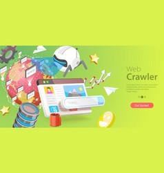 3d conceptual of web crawler vector image