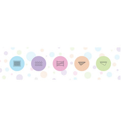 5 plank icons vector