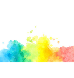 Abstract colorful watercolor background dotted vector
