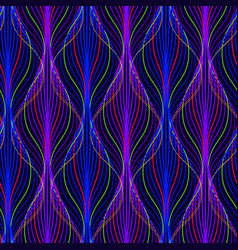 Abstract dark seamless pattern neon futuristic vector