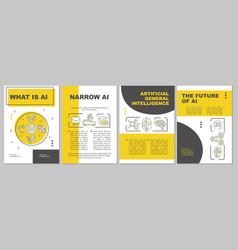 Ai brochure template vector