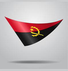 Angolan flag background vector