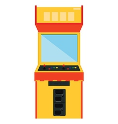 Arcade game machine vector image
