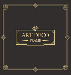 Art deco border frame 04 vector