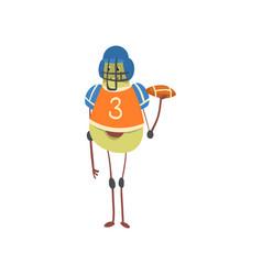 Avocado american football player in uniform with vector