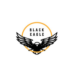 black eagle logo design vector image