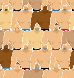 Bodybuilding competitions seamless pattern Many vector image