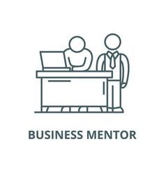 Business mentor line icon linear concept vector