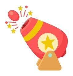 Circus cannon icon cartoon style vector