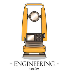 color engineering logo of a theodolite vector image
