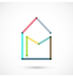 Colorful local mail vector