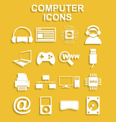 Computer icons concept for vector