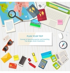 concept planning vacation vector image