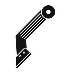 construction knife icon simple style vector image
