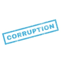 Corruption Rubber Stamp vector