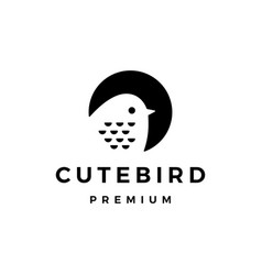 cute bird logo icon vector image