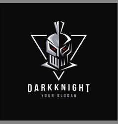 dark knight logo mascot vector image