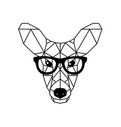 deer female in glasses geometric style vector image