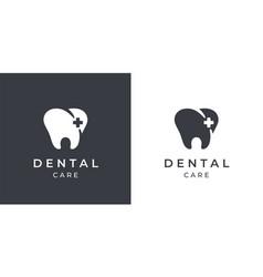 Dental tooth care logo icon vector