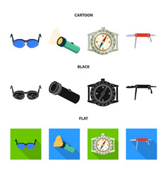 Design of mountaineering and peak logo set vector