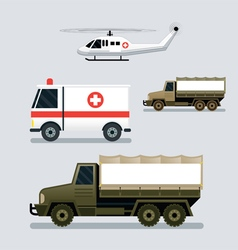 Disaster Assistance Response Vehicles Side View vector