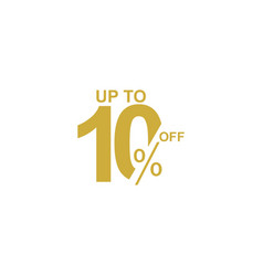 Discount label up to 10 off template design vector
