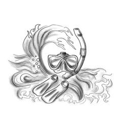 Diving symbol vector