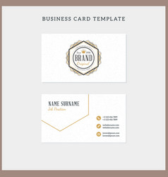Doublesided Vintage Business Card Template With Vector Image - Vintage business card template