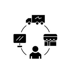 Dropshipping - drop ship - logistics icon vector